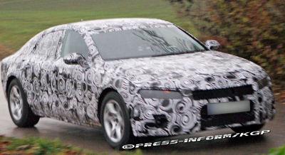 Photos espion de la future Audi A7 surprise sur la route..