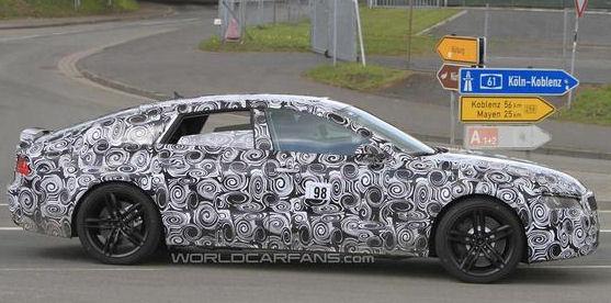 Photos espion de la future Audi S7 par worldcarfans.com. Pour la première fois, on a également des images de l'intérieur de cette Audi S7.